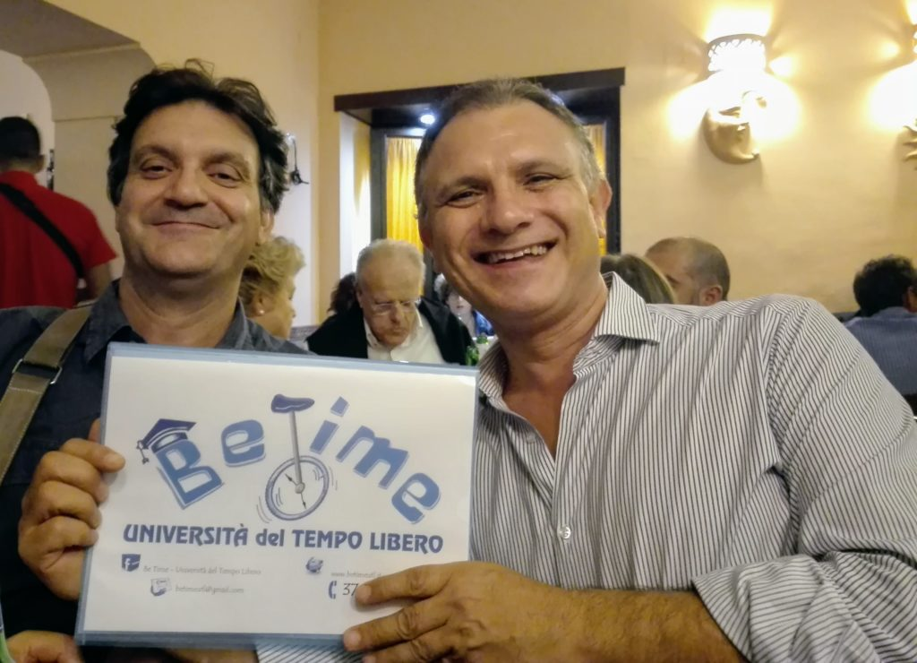 Il Presidente Amodio ed il segretario Osvaldo di BeTime al museo di Capodimonte