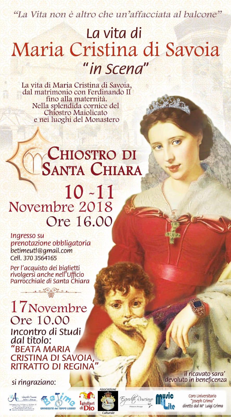 La vita di Maria Cristina di Savoia: da scoprire con BeTime!
