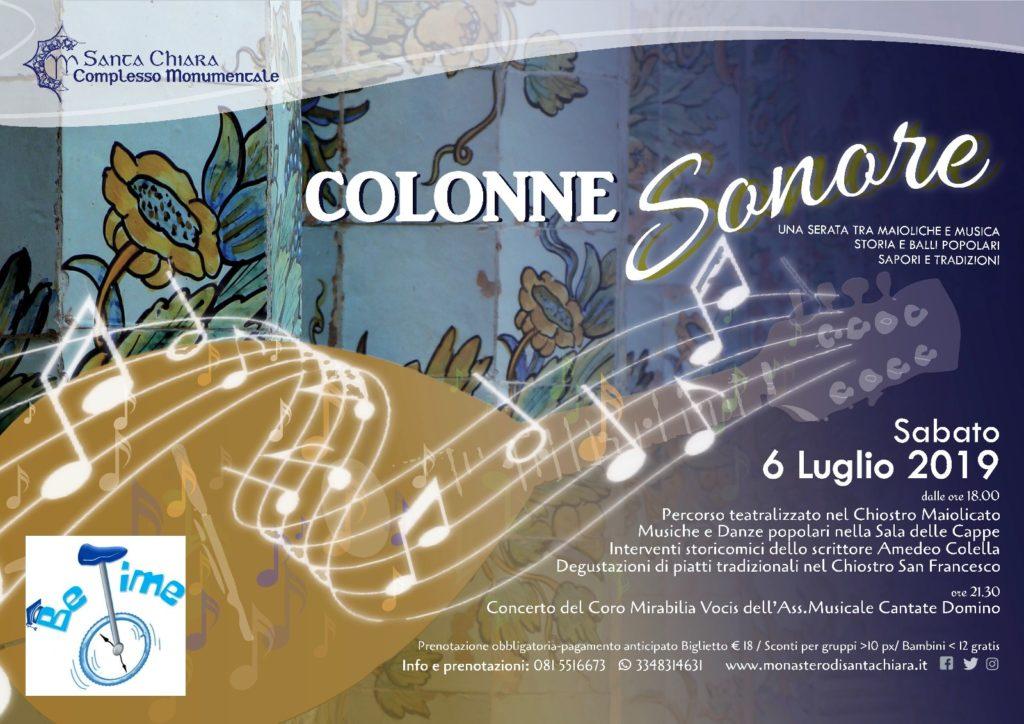 Il Complesso Monumentale di Santa Chiara invita all'evento COLONNE SONORE