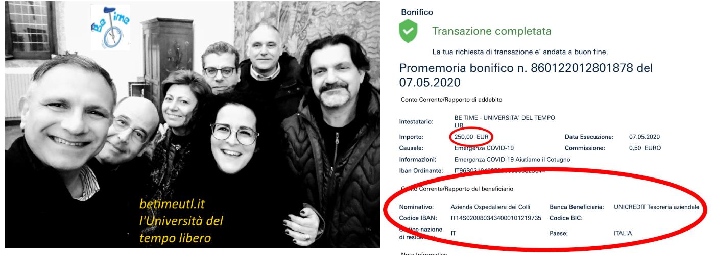 BeTime per l'Ospedale Cotugno di Napoli: la nostra donazione