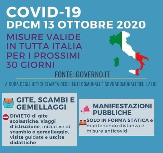 DPCM Ottobre 2020: sospensione delle attività BeTime